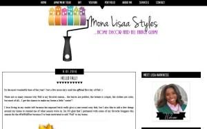 Lisa, of Mona Lisaa Styles - chalkboard wall art