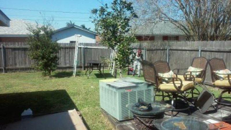 backyard transformation - before
