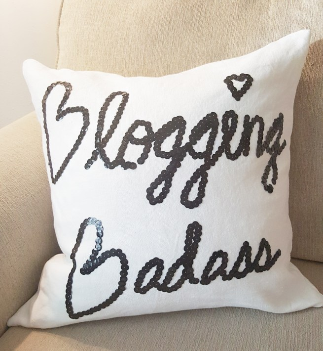 blogging badass pillow