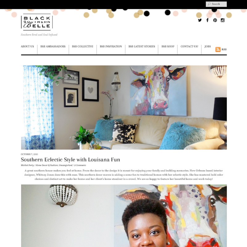 black southern belle feature