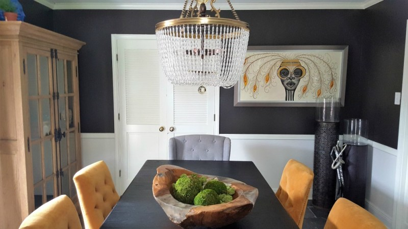 eclectic dining room transformation