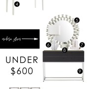 3 stylish entryways | modern glam entryway | fun & flirty entryway | global entryway