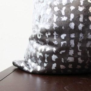charcoal gray velvet pillow | home decor | glamorous decor | velvet decor
