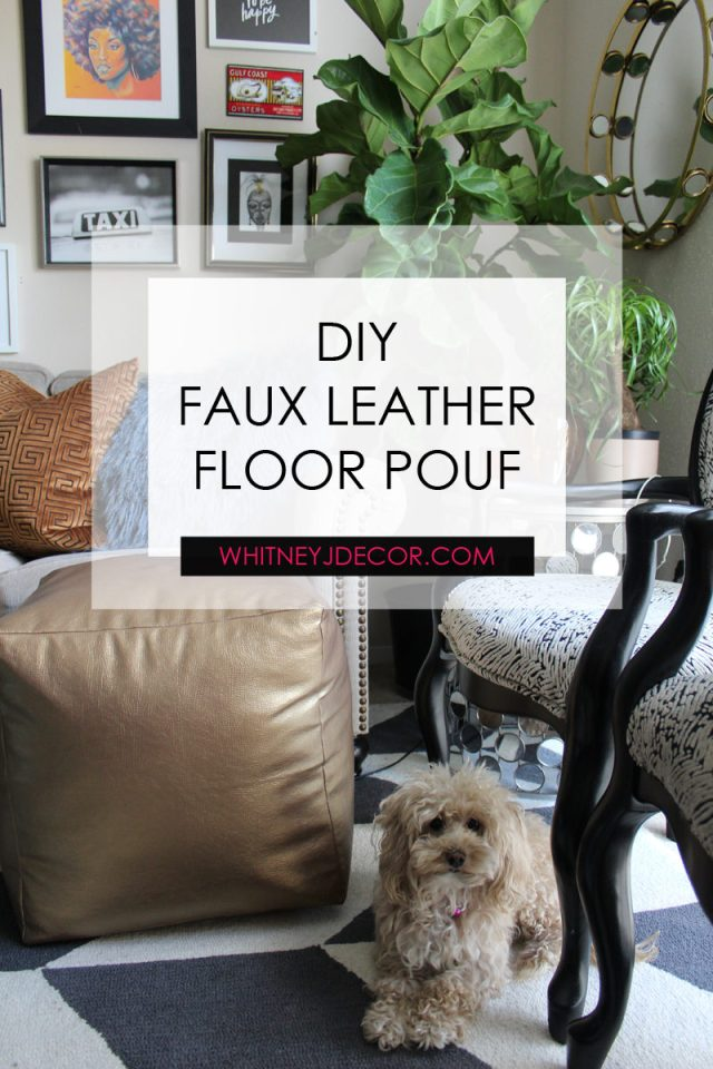 faux leather diy floor pouf supplies | faux leather floor pouf | floor pouf | eclectic home decor