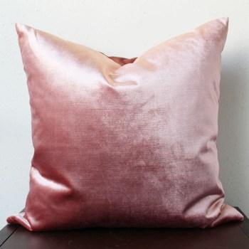 rose pink velvet pillow   home decor   glamorous decor   velvet decor