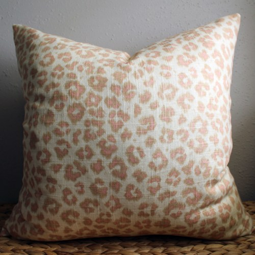 blush leopard print pillow