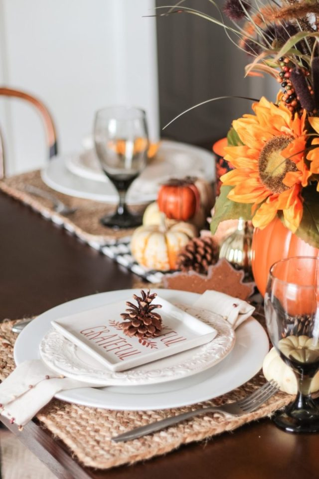 last minute thanksgiving tablescapes | fearfully and wonderfully made