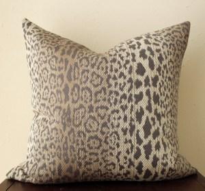 taupe leopard print pillow   brown leopard print pillow   brown animal print   modern leopard print   eclectic decor   boho decor  
