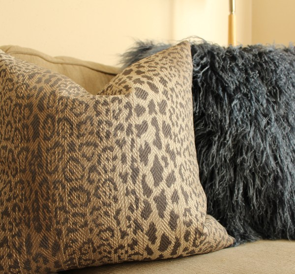 taupe leopard print pillow | brown leopard print pillow | brown animal print | modern leopard print | eclectic decor | boho decor |