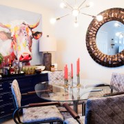 Britt Smith Photography Interior decor photoshoot with New Orleans decorator Whitney J Decor | eclectic dining room decor | bar cart