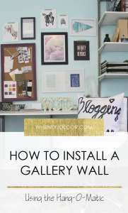hanging a gallery wall with hang-o-matic | installing a gallery wall | gallery wall ideas | hanging art | how to install a gallery wall