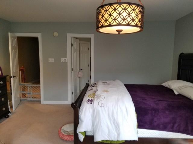 blue bedroom | pink bedroom | transitional bedroom | before photo