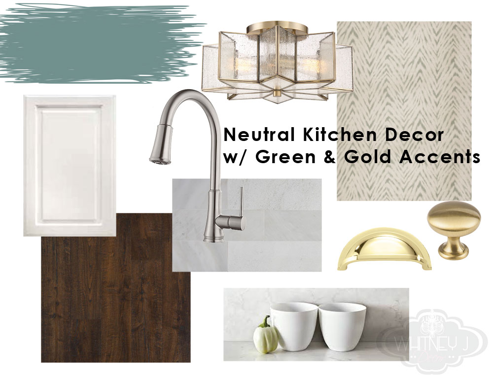small kitchen decor plan | whitney j decor | kitchen before | white kitchen decor | one room challenge