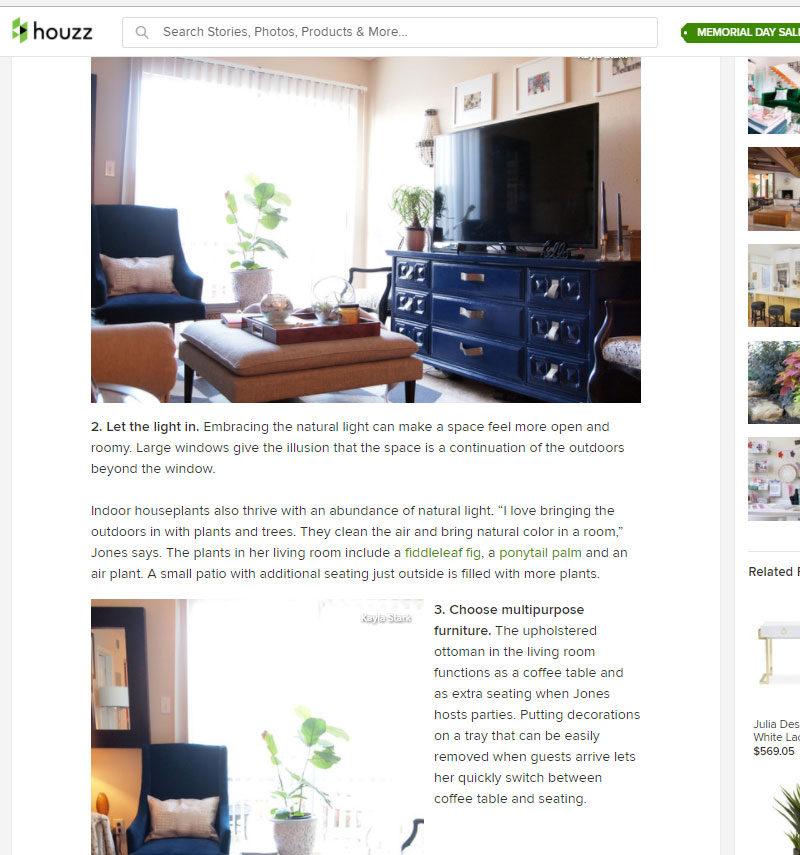houzz small apartment feature | whitneyjdecor