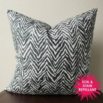 black and white pillow   black and white zebra print pillow   animal print   black and white decor