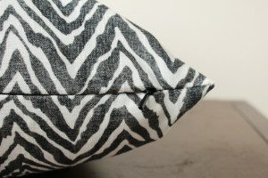 black and white pillow | black and white zebra print pillow | animal print | black and white decor