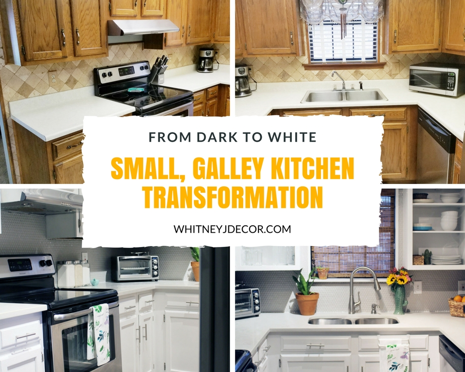 Ugly Small Brown Kitchen Remodel Transformation Caesarstone London Grey Countertops Gray