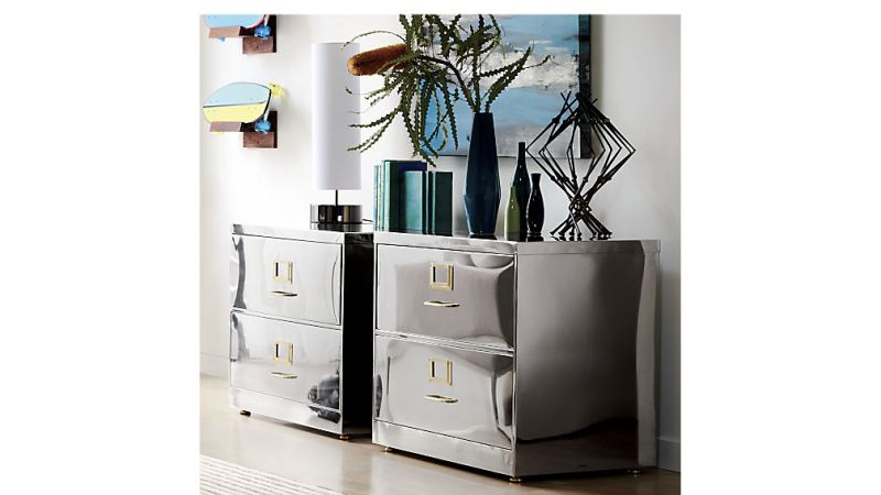 stainless steel file cabinet