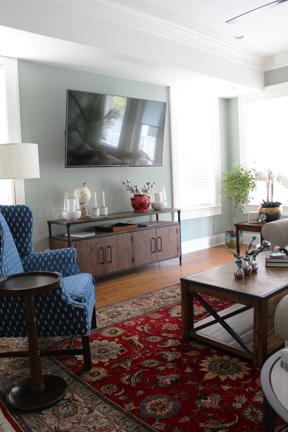 green and red living room wall colors for blue transitional whitney j decor new orleans homes nola