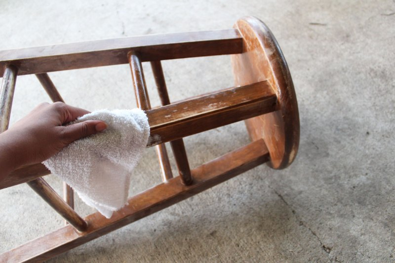 painted bar stool | diy bar stool