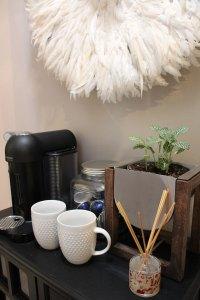 kitchen hallway decor | kitchen decor | coffee station | whitney j decor | new orleans blogger | nola blogger