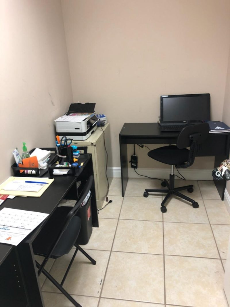 BEFORE PHOTO of a tiny black, white, and gold office transformation | glam office under 50 sqft | tiny office design | small office design | small home office | tiny home office | blue home office | real estate decor | whitney j decor | new orleans decor | new orleans interior designer | black interior designer | nola homes | nola interior designer | new orleans decorator | new orleans interior designer