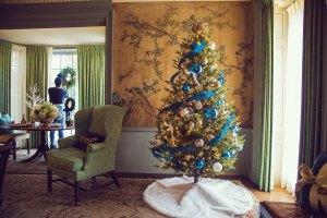 blue and green christmas decor | holiday decor | whitney j decor