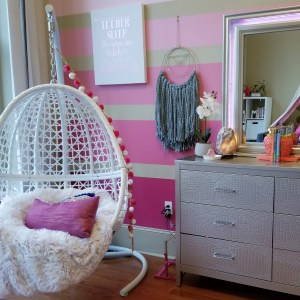 fun and colorful girly bedroom