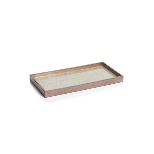 Antique Rose Gold and Silver Serving Tray