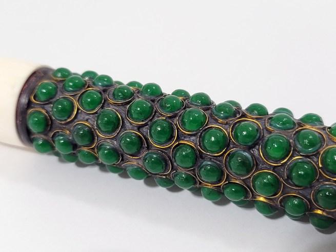 Emerald Green Beaded Calligraphy Brush