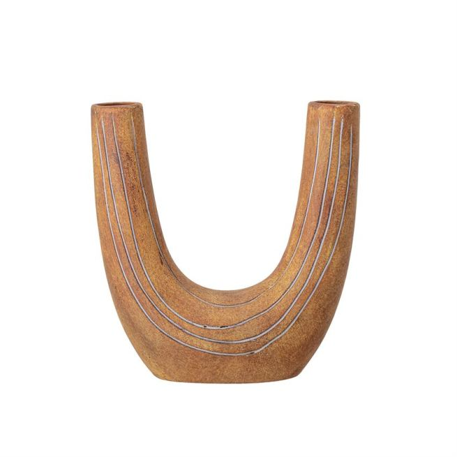 Terracotta U-shaped Vase