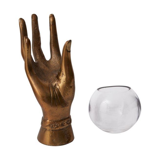 bronze hand terrarium
