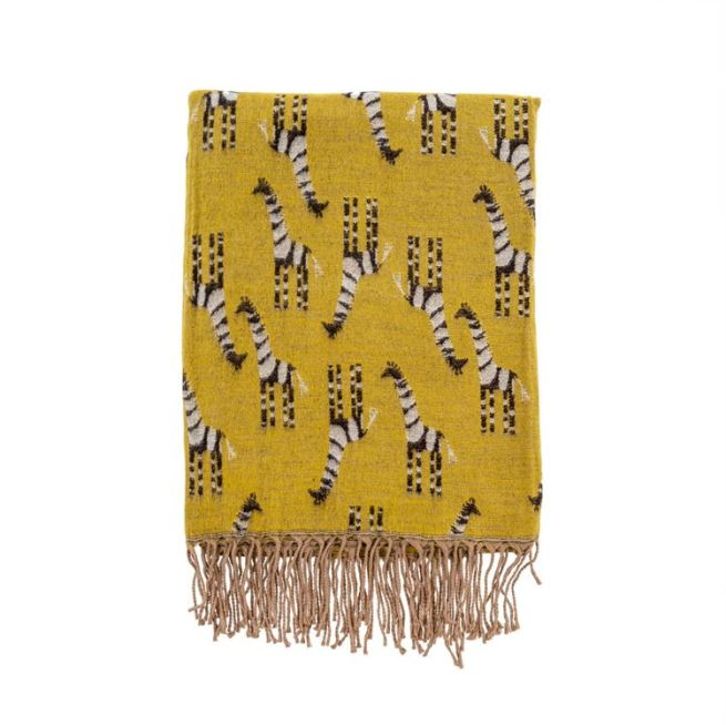 safari throw gold