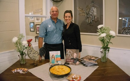 Whitney with The Coop Chef and Owner John Rivers