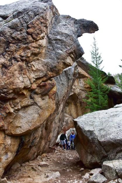 fern lake boulders