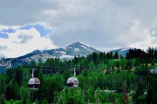 Breckenridge ski resort gondola. Free during the summer months!