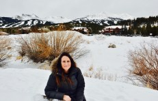 We found a picnic table buried in snow. With a great view of Breck Mountain
