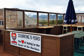 Ski Cooper deck area at the main lodge. The 360 degree views are amazing!