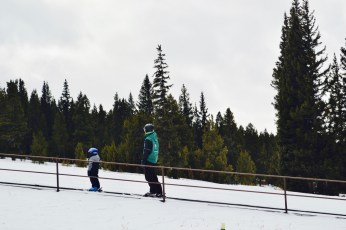 The Ski Cooper magic carpet makes it so easy for the kids to get up to the top of the slope!