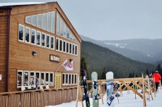 This is the main Ski Cooper Lodge where folks can sit, eat, drink, and warm up!