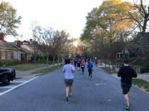 Running towards the Virginia Highlands area