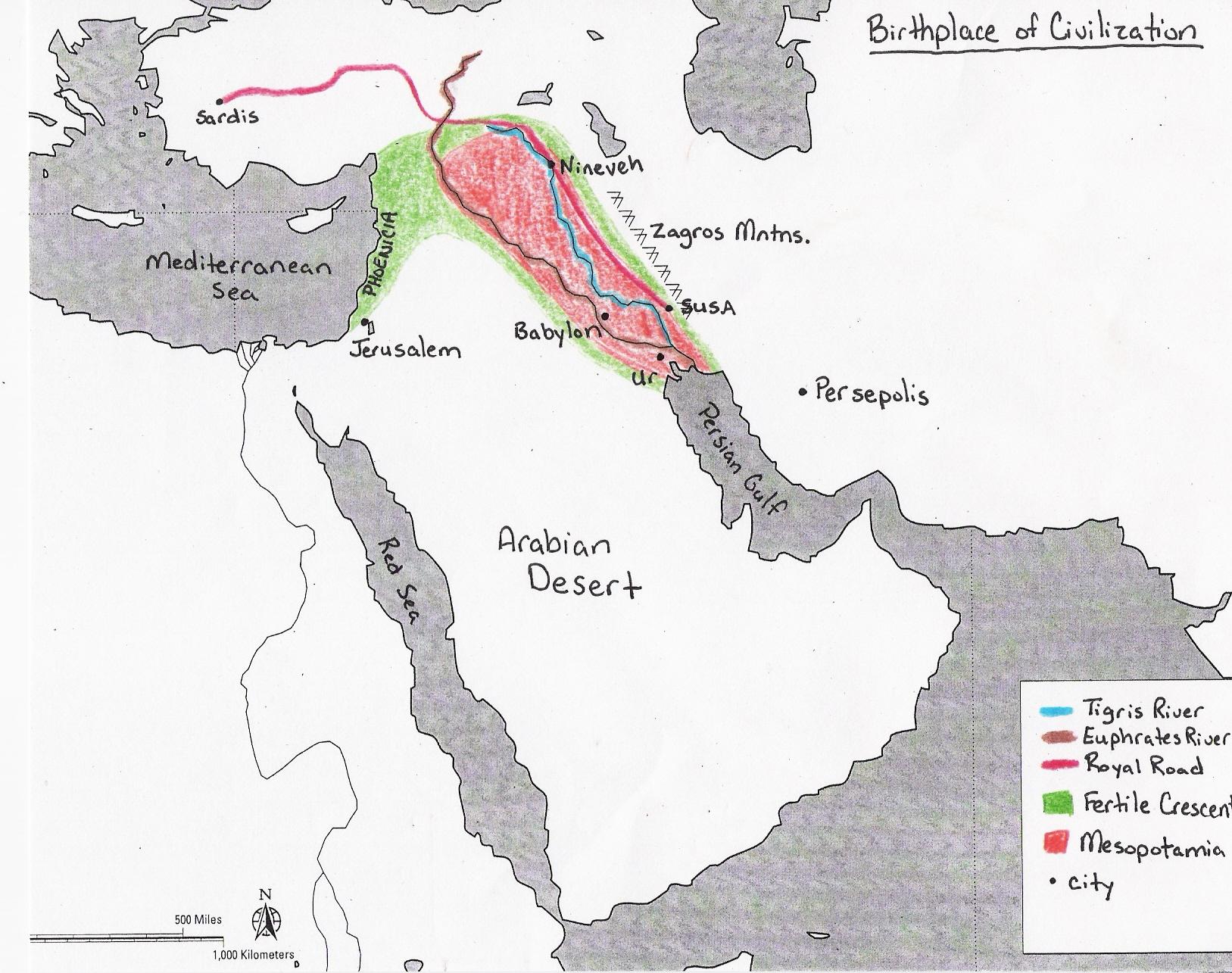 Albert S Trip To Mesopotamia Map Of Mesopotamia