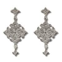 Fancy diamond drop earrings