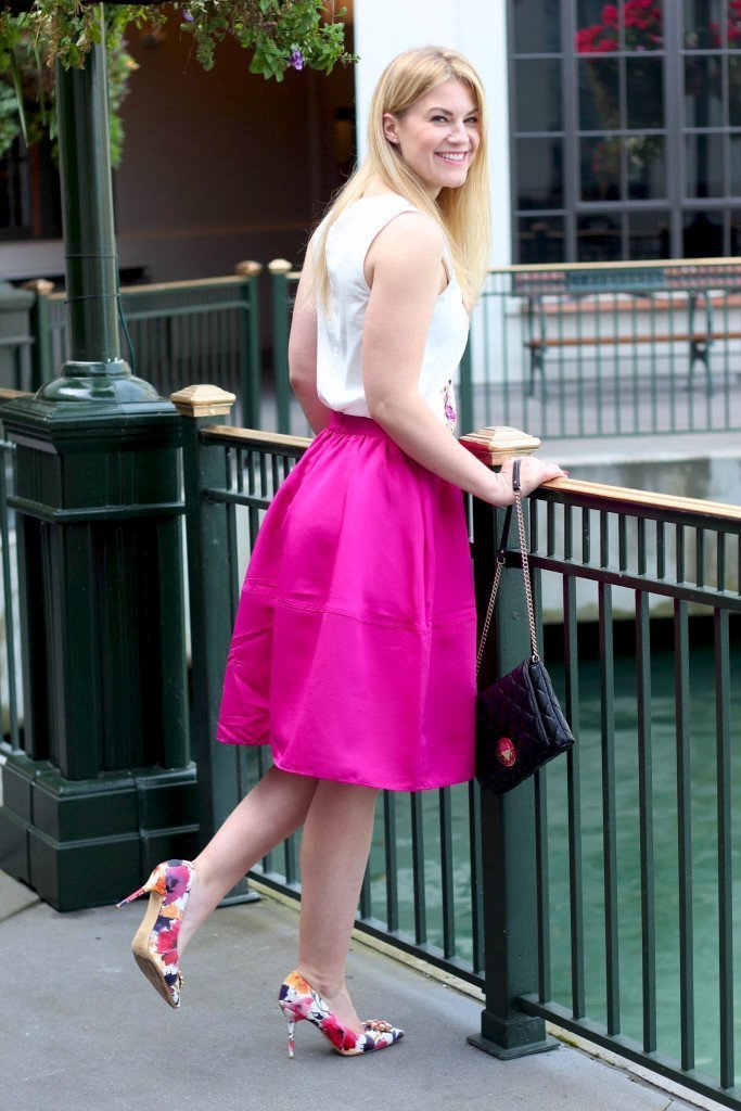 whit floral top midi skirt3