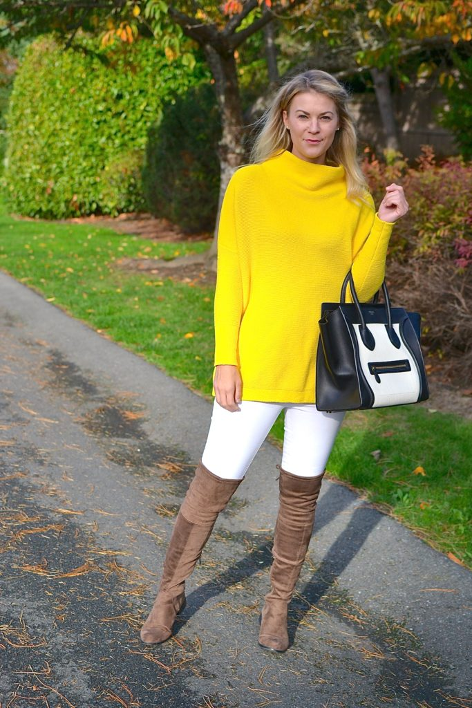 fall sweater and otk boot