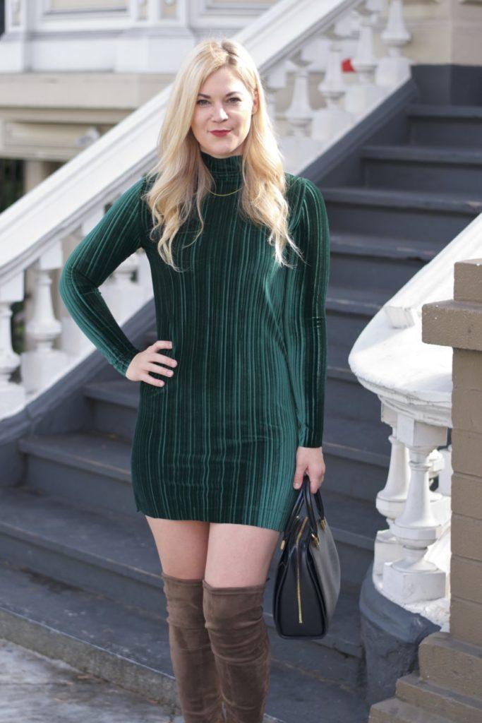 velvet dress long sleeve