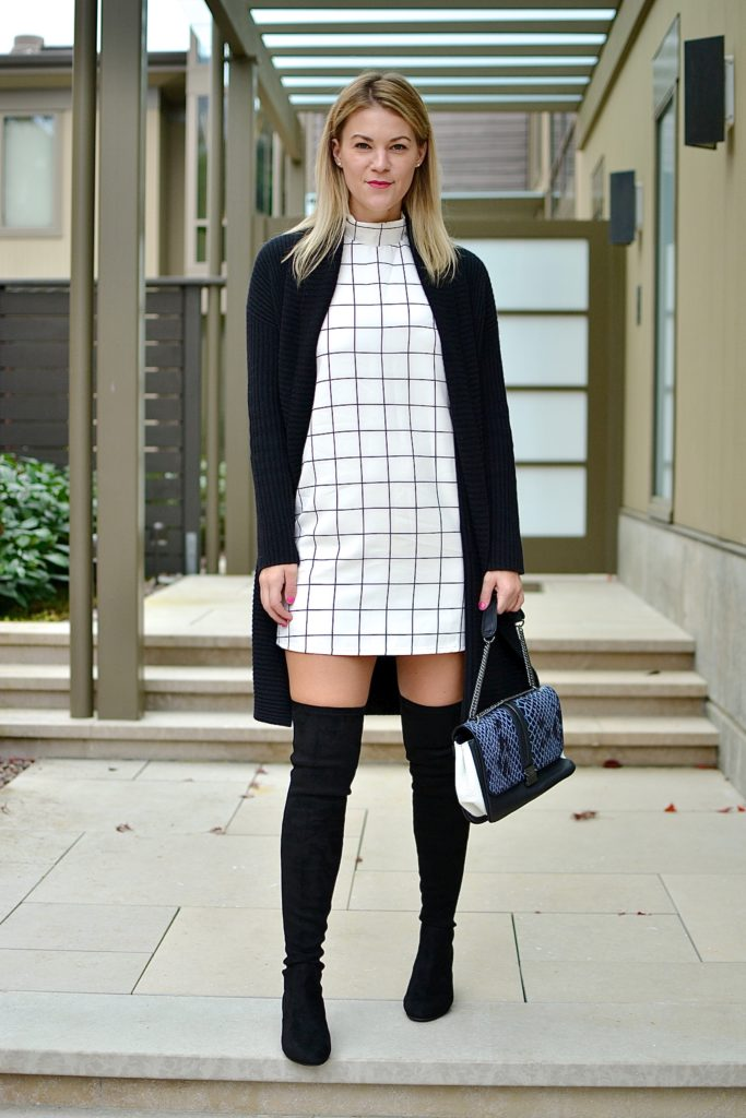 plaid dress otk boots