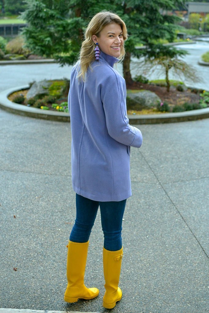ellen tracy purple coat