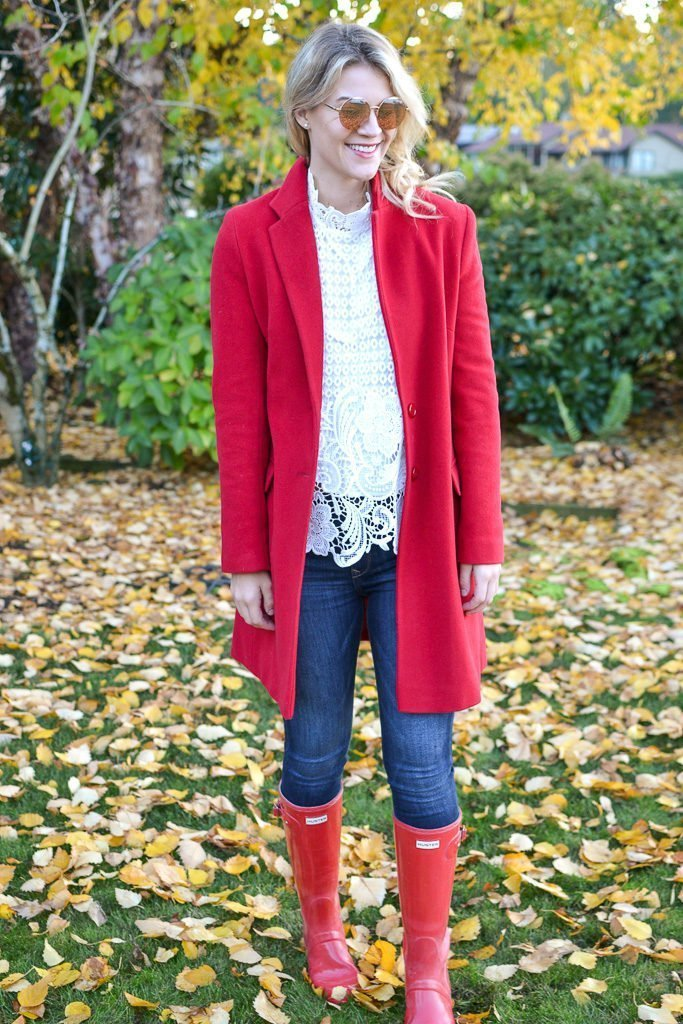 red coat hunter boots