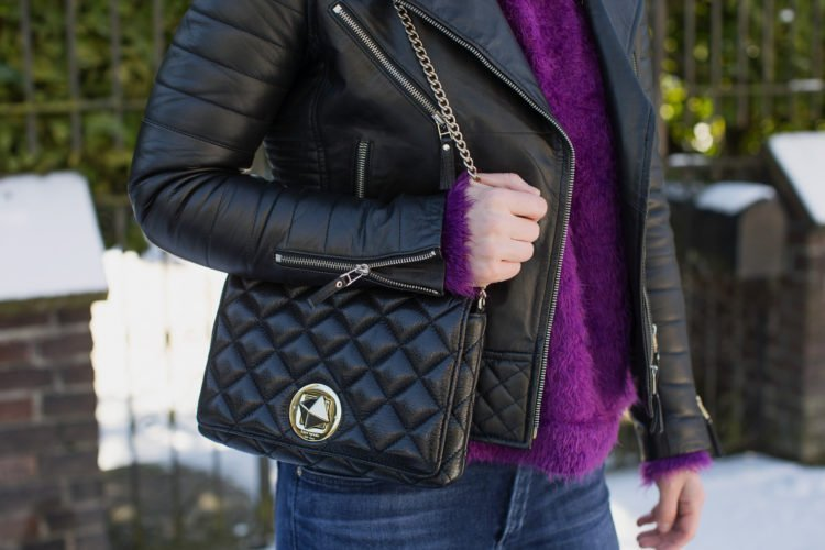 kate spade quilted purse moto jacket